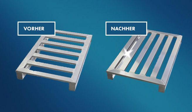 Umrüstung Aluminium-Paletten von Hercher Metallbau