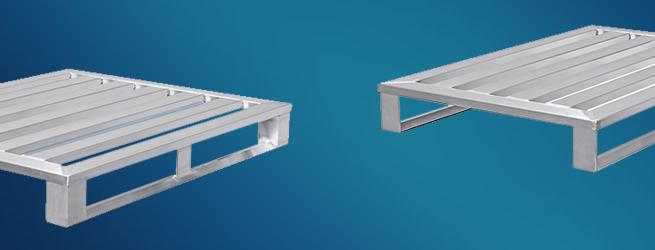 Standardpaletten aus Aluminium von Hercher Metallbau