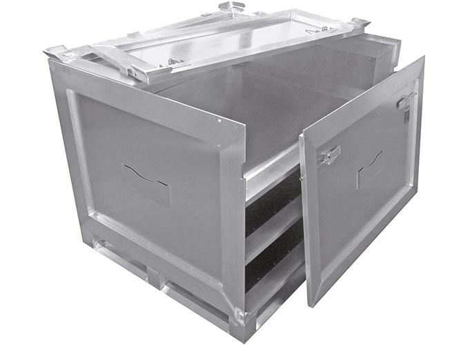 Alu-Container (innen) von Hercher Metallbau