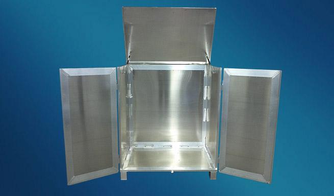 Aluminium-Container offen von Hercher Metallbau