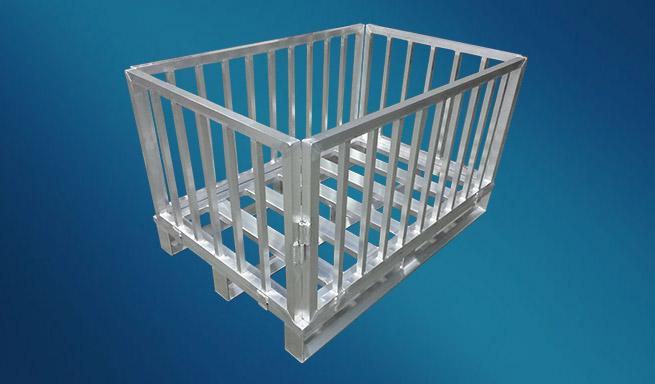 Aluminium-Gitterbox faltbar von Hercher Metallbau