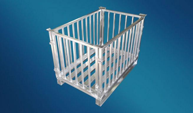 Aluminium-Gitterbox zerlegbar von Hercher Metallbau