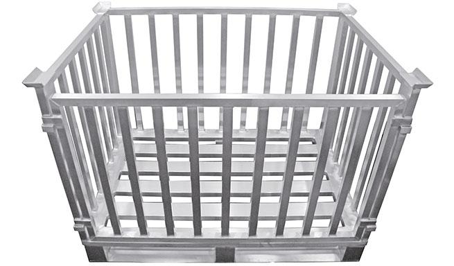 Alu-Gitterboxen von Hercher Metallbau