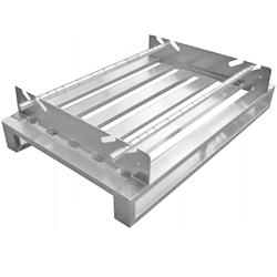 Aluminium-Sonderpalette mit abnehmbarer Rollensicherung - Hercher Metallbau
