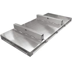 Aluminium-Sonderpalette mit Maschinenaufsatz von Hercher Metallbau