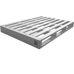Aluminium Sonderpalette mit Übergröße und 3000kg Traglast von Hercher Metallbau