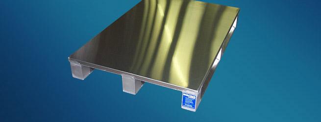 Aluminium Sonderpalette mit Sandwichdeck von Hercher Metallbau